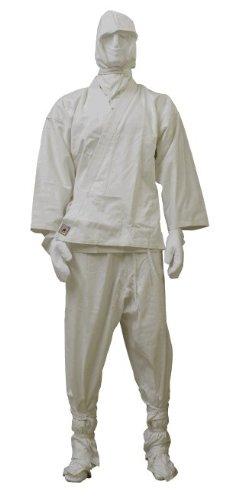 Ninja Anzug weiss, Gr. 190 cm (Anzug Ninja Weißer)