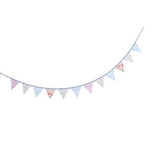 Wimpel Wimpelgirlande Fahnenkette Hängende Deko auf Wand Tür Garten und Baum, Geeignet für Hochzeit und Party - Stil 4 ()