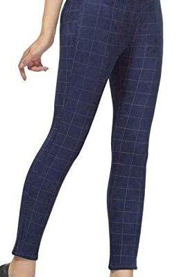 5df4f40f2915c3 ... Respect Women Check Pants (Jegging Style) Formals Casual Stretchable -  26-32 Inch
