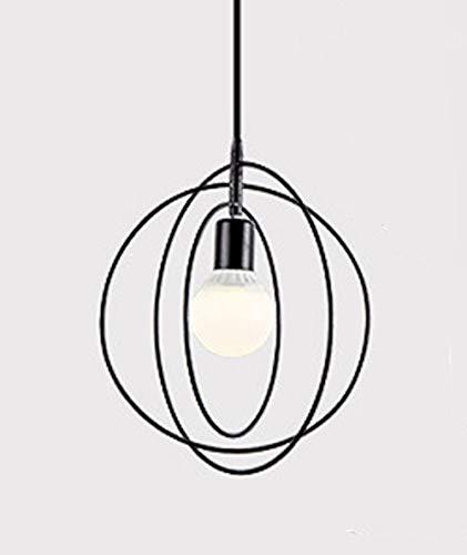 Luminaire suspendu en métal moderne nordique - Laiton étoile/anneau / Pentagramme E27 Lampe suspension éclairage du restaurant (Ampoule Non Incluse)