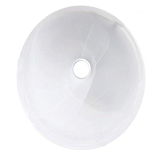 Maclean MCE22 Lampenglas Glas Decke Lampe Leuchte Deckenleuchte Wandleuchte Plafon Sensor Pir Infrarot Weiss 30cm 30 cm -