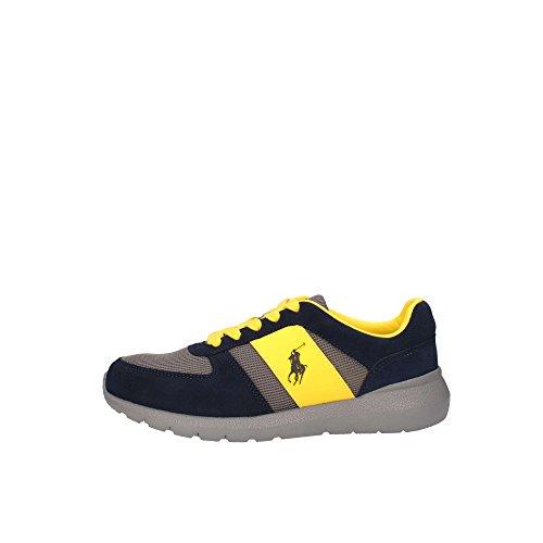 Sneaker giallo Ralph Lauren tecniche Slaton con pony Giallo