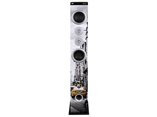 Trevi XT 104 BT Soundtower Altoparlante Speaker Amplificato a Torre con Radio FM, Bluetooth, Mp3, USB, SD, Aux-In, Colore NY Taxi