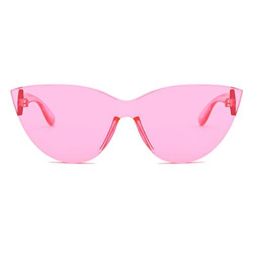 Plzlm Damen Herren Sonnenbrillen Fest-Süßigkeit-Farben-Brillen Eyewear UV400 Schutz Resin Taukappen