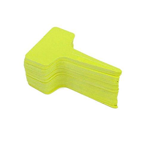 WINOMO Giardino della scuola materna di plastica pianta T-tipo tag marcatori etichette 100pcs(Yellow)