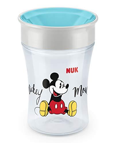 NUK Disney Mickey Mouse Magic Cup Trinklernbecher, 360° Trinkrand, auslaufsicher abdichtende Silikonscheibe, BPA-frei, ab 8 Monaten, 230ml, türkis