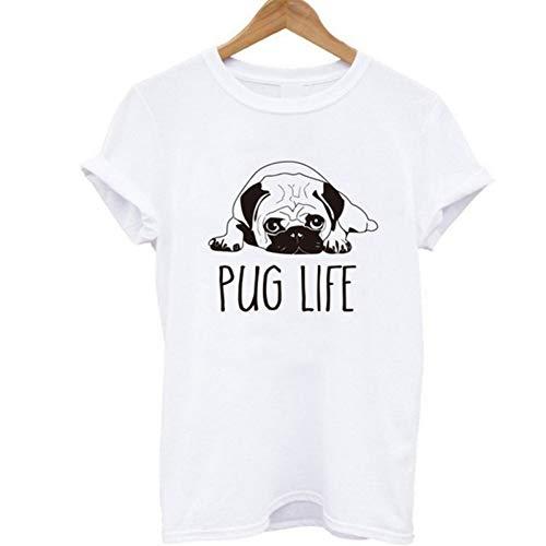 TYML Fashion Cut Mops Gedruckt Frauen T-Shirt Casual Oansatz Frauen T-Shirt Neue Gothic Nach Frau T Plus Größe Shirts Shark Lion -