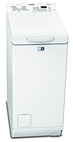 AEG L62260TL Waschmaschine Toplader / Waschmaschine mit 6 kg ProTex-Trommel / sparsamer Waschautomat mit Mengenautomatik / Energieklasse A+++ (150 kWh/Jahr) / automatische Waschmitteldosierung / weiß