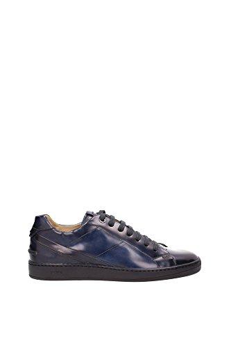 7E0842W5VF0QA2 Fendi Sneakers Homme Cuir Bleu Bleu