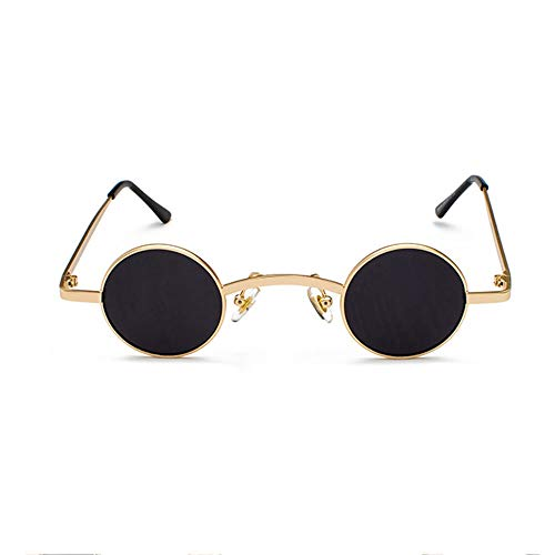 Szblk Titanlegierung Sonnenbrillen Fashion Sonnenbrillen Driving Sonnenbrillen Outdoor Sonnenbrillen Polarisierte Sonnenbrillen Retro Ultra Small Round Frame (Color : Black1)