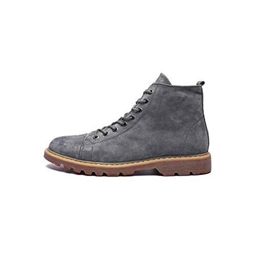 FF Mâle Zhongbang en Cuir Véritable Bottes De Travail Bottes Chaussures À Talons Hauts (Couleur : Gris, Size : EU39/UK6.5/CN40)