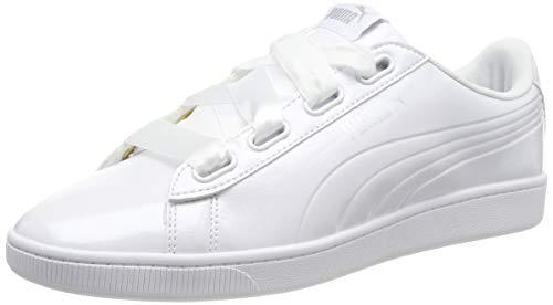 Puma Damen Vikky v2 Ribbon P Sneaker, Weiß (Puma White-Puma Silver 2), 40.5 EU
