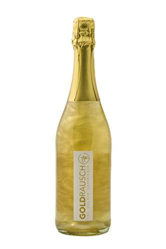 Goldrausch - Das Original ! Für Champagner & Sekt Liebhaber, das prickelnde Lifestyle Getränk mit feiner Perlage, goldgefiltert, 24 Karat Blattgold & Goldstaub. 0,75 l