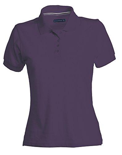 PAYPER Damen Polohemd Venice 100% Baumwolle Kurzarm 4 Knöpfe Nackenband, Farbe:Indigo;Größe:S