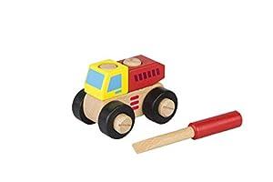 Iwood- Set de Construcción de Madera: Montable y Desmontable Vehículo para Montar: Camión de la Basura, (13008)