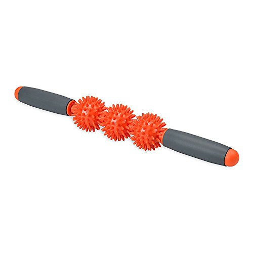 Salon Styler Haarbürsten Igelball Trigger Point Muscle Therapie Stick Roller - Athletic Muskel Körper Therapie Roller - Manuelle Massage Werkzeug für Wunde Muskeln/Lösen Krämpfe, Orange -