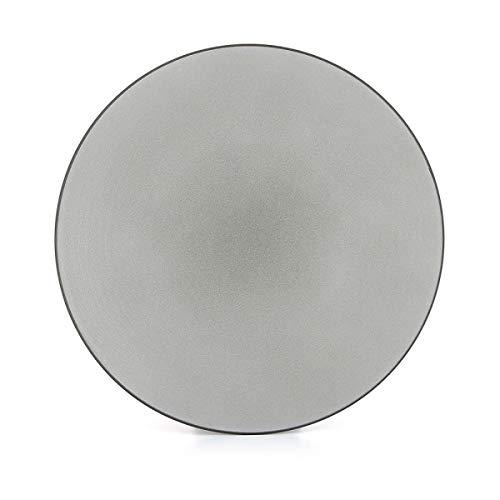 Visiodirect Lot de 2 Assiettes Plates Equinoxe Poivre - 31 cm