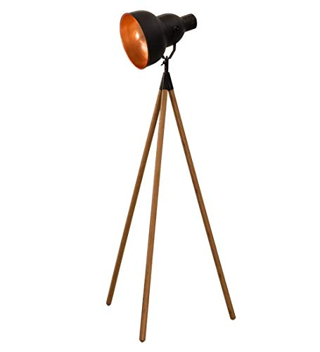 3 Side Frame (Defeng Stehleuchte Big Three Feet Retro American Wooden Side Frame Tischleuchte (Color : A, Size : 163CM))