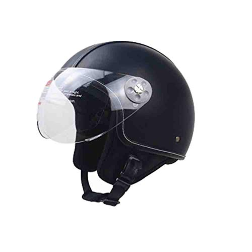 Casco moto mezza pelle in pelle Uomo Donna Casco moto classica antiaerea Graffiti Casco moto cross motocross