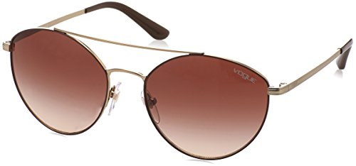 Vogue Eyewear Damen 0VO4023S 502113 56 Sonnenbrille, Braun (Matte Brown/Pale Gold/Browngradient),