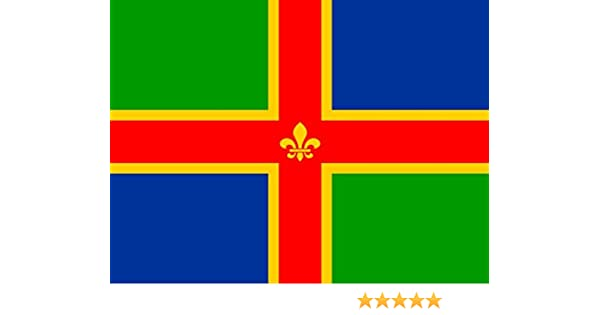 Lincolnshire 3/' X 2/' 3ft x 2ft Flag With Eyelets Premium Quality English County