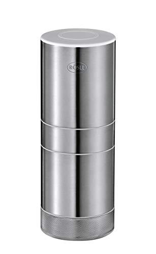 RÖSLE Knoblauchschneider, Ø 5,5 cm, Edelstahl 18/10, für feine Würfel Knoblauch oder Ingwer, komplett zerlegbar