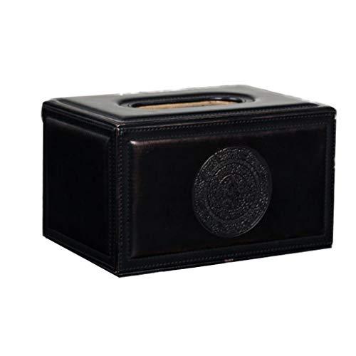Tissue-Box, Taschentuch Kosmetiktücherbox Gesichtstuch Tablett Flach Serviette Halter Bad Schminktisch Tissue-Spender Rechteckige Leder Kosmetiktuch Taschentuchbox Kosmetiktücherbox Bronze Hochwertig
