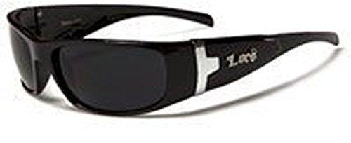 Rund-um Comfort Sonnenbrillen, inklusive Brillenbeutel, Putztuch und Brillenkordel (Dunkle Schwarze Sonnenbrille)