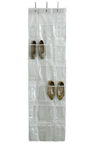 HomeStrap Over-The-Door Shoe Organizer – White