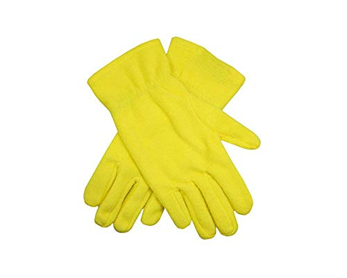 Livingstyle & Wanddesign Damen Herren Fleece Promo Gloves Handschuhe Yellow, Gr. M/L