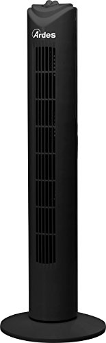 Ardes AR5T80B Drito Black Ventilatore a Torre 80 Cm Base Girevole con Timer