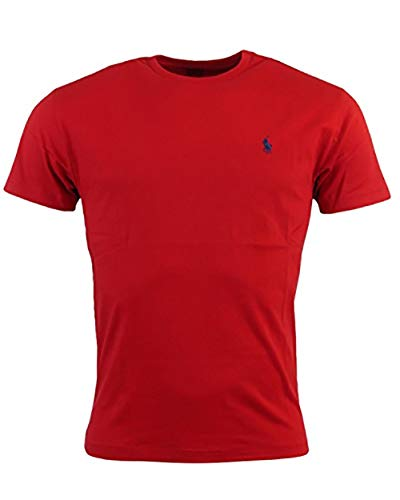 RALPH LAUREN T-Shirt HERREN TEE SHIRT CLASSIC FIT RLNM1000 m rot - Shirt, Lauren Ralph Classic-fit