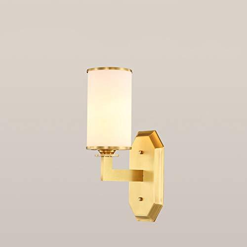 Handgefertigte Einzel - (LIUX Kreative Persönlichkeit Rostschutz Reines Kupfer Einzel Schwarz Gold Handgefertigt Glas Lampenschirm Wohnzimmer Schlafzimmer Korridor Hintergrund Wand Treppenlicht Einfache LED-Beleuchtung Energi)