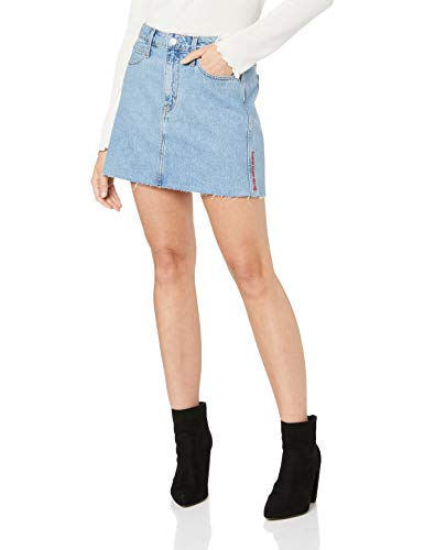 Calvin Klein Jeans Damen Rock Blue Denim 25 - Calvin Klein Jeans-rock