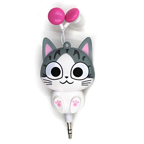 Beimaji Trade In-Ear Headset 3.5 mm Cartoon Cat Retractable Earphone 3.5 Mm Retractable Headset