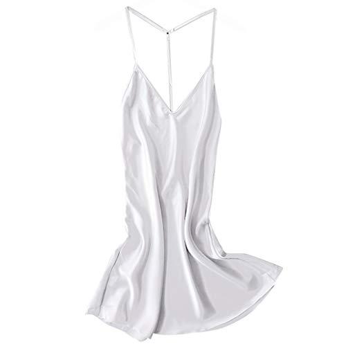 MIRRAY Damen Satin Nachtwäsche Nachtkleid Babydoll Neglige Dessous Nachthemd Pyjamas