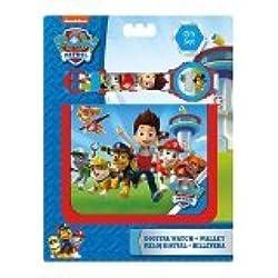Kids Euroswan - Paw Patrol PW16020 Gift Set wallet and digital clock