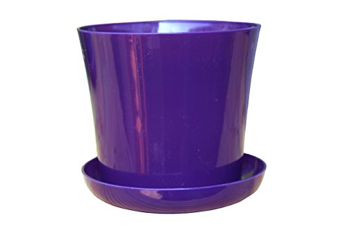 flower-pots-12-colours-3-sizes-gloss-plastic-plant-pots-planter-saucer-tray-violet-15-cm