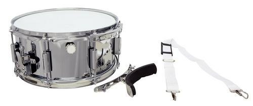 Gewa Basix Marching Snare Drum (14 Zoll) x (6.5 Zoll) Metallkessel