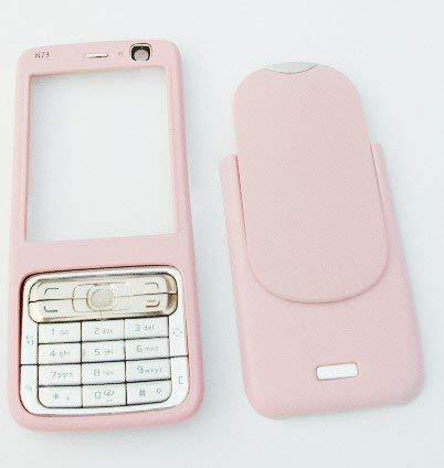 KMSDIRECT Nokia N73Style-up Gehäuse Tastatur Faszie Cover für das N73-Pink -