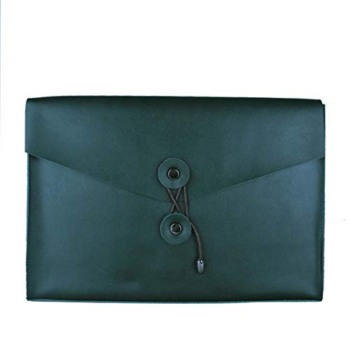 Ofliery Business Hand Holding Briefcase Ledermappe Portfolio grün - Business Portfolio Briefcase