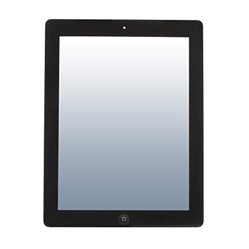 Frontglas Ersatzglas Display Glas für iPad 2 mit Digitizer, Home Button und integriertem Klebepad (Schwarz)