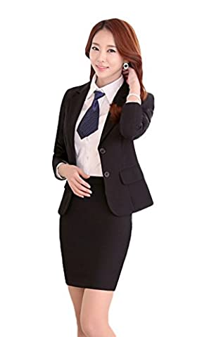 SK Studio Women's 2 Piece Slim Fit Business Blazer Suits