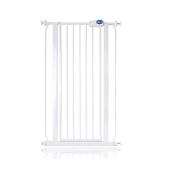 Bettacare Child and Pet Gate Range 75cm - 147.5cm (68.5cm - 75cm, White) Bettacare Pressure Fitted White Metal Gate Double Locking Mechanism 2