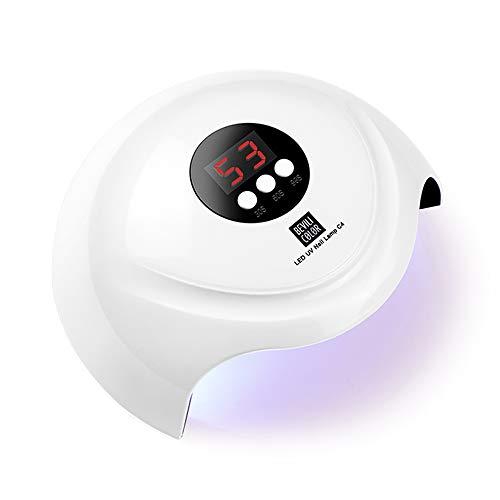 HALOVIE Nageltrockner 120w/36W Carttiya Nageltrockner Gerät Lampe Schnelltrocknender LED-Profi-Nageltrockner mit 3 Timern 30/60/90S LCD-Smart-Screen-UV-Lampe Dry Nails für alle Gele