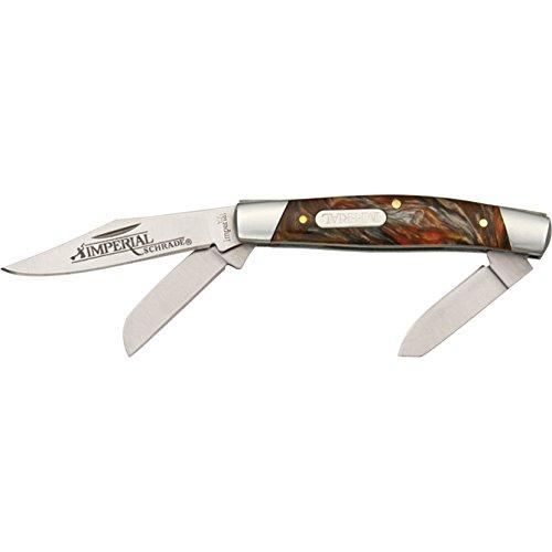 Imperial Schrade - Taschenmesser - - Länge geschlossen: 8.57 cm - Medium Stockman - Klinge: Rostfreie Clip-Point, Spey-Point und Sheepsfoot Klingen (Medium Point-messer)