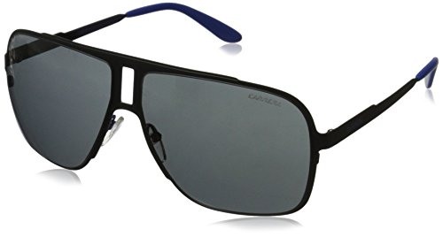 Carrera Herren 121/S IR 003 Sonnenbrille, Schwarz (Matt Black/Grey Blue), 62