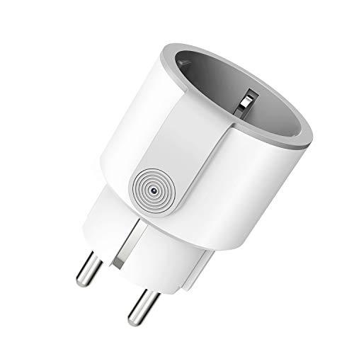 WLAN Steckdose, Smart Steckdose mit Verbrauchsanzeige Timer kompatibel mit iOS & Android, funktioniert mit Alexa/Google Home/IFTTT, Kein Hub erforderlich 10A-2200W
