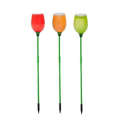 Solar Licht Led Tulpe Wasserdicht Kunststoff Unterirdischen Garten Lampe Landschaft Dekoration Für Rasen, Hof, Weg Zufällig 90 * 90 * 850Mm (4 Stücke)