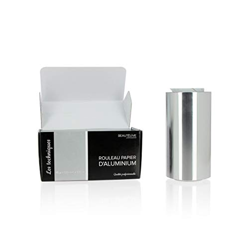 Papier aluminium mèches 15 microns, 12cmx100m, Beautélive